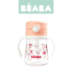 Beaba, tritanowa butelka ze słomką light pink 240 ml