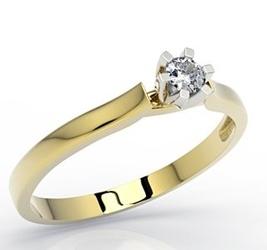 Pierścionek z żółtego i białego złota z brylantem lp-8012zb - wysyłka w następny dzień roboczy - sprawdź dostępność