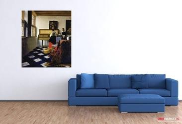 lekcja muzyki -  jan vermeer ; obraz - reprodukcja