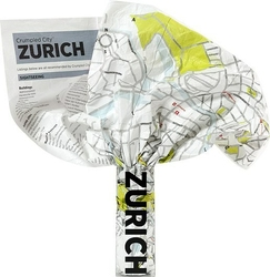 Mapa Crumpled City Zurich