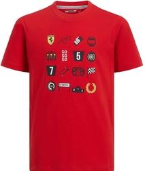 Koszulka dziecięca scuderia ferrari graphic czerwona 2019