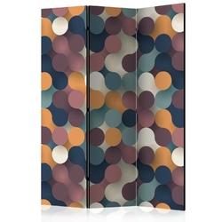 Parawan 3-częściowy - kolorowe cząsteczki room dividers