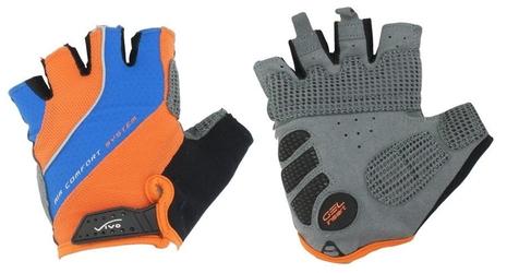 Rękawiczki rowerowe vivo sb-01-7007-e niebiesko-pomarańczowe