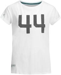 Koszulka damska mercedes amg hamilton 44 biała - biały