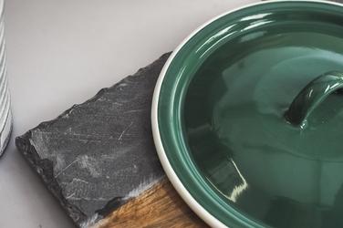 Pokrywa emaliowana 18 cm zielony