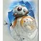 Star wars: the last jedi bb-8 brushstroke - obraz na płótnie
