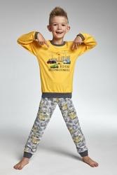 Cornette 59373 Construction żółty piżama chłopięca