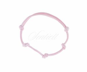 Bransoletka baza do zawieszki kolor różowy