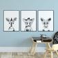 Zestaw plakatów dziecięcych - elegant trio , wymiary - 40cm x 50cm 3 sztuki, kolor ramki - czarny