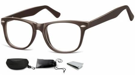Oprawki zerówki korekcyjne nerdy flex sunoptic ac15c brązowe
