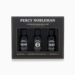 Percy nobleman limited edition beard oil set - zestaw trzech olejków do brody