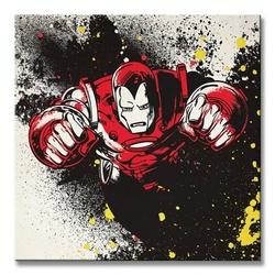 Iron man splatter - obraz na płótnie