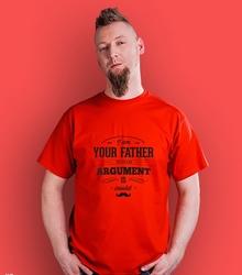 Im your father argument t-shirt męski czerwony xl