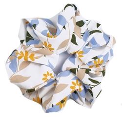 Gumka do włosów frotka scrunchie niebieska kwiaty