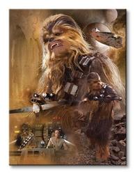 Star wars episode vii chewbacca art - obraz na płótnie