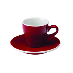 Filiżanka ze spodkiem 180 ml czerwona Tulip Loveramics