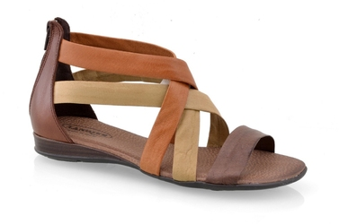 Sandały lanqier 32c969 brąz-beż