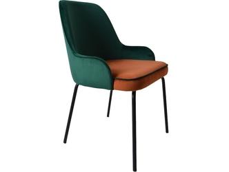 Krzesło tapicerowane giovanni na metalowych nogach
