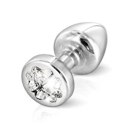 Zdobiony plug analny - diogol anni r butt plug clover silver 25 mm koniczyna srebrny