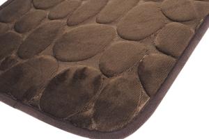 Dywanik łazienkowy 60 x 40 cm brązowy ciemny