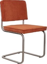 Zuiver krzesło ridge brushed rib pomarańczowe 19a 1100080