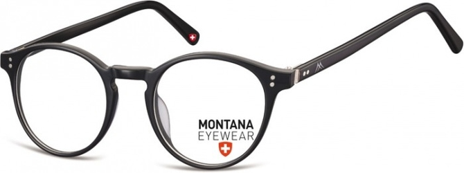Okrągłe oprawki optyczne,lenonki korekcyjne montana ma62 czarne