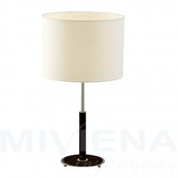 Nevada lampa stołowa 1 chrom orzech