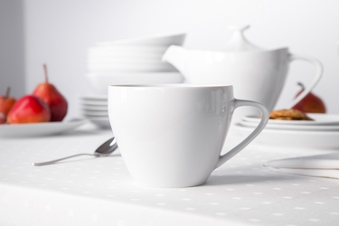Filiżanka do cappuccino porcelana mariapaula moderna biała 350 ml