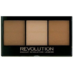 Makeup revolution ultra brightening, paletka do konturowania twarzy c04 light  medium
