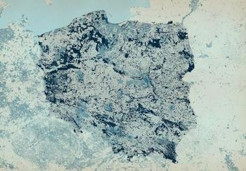 Polska - mapa w kolorach - fototapeta