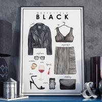 Plakat w ramie - definitely black , wymiary - 20cm x 30cm, ramka - czarna