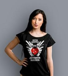 Autistic daughter t-shirt damski czarny m