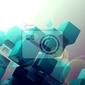 Fototapeta fondo abstracto con cubos.ciencia y tecnologia