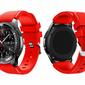 Gumowy pasek sportowy do Samsung Gear S3  watch 46mm karbon +Szkło - Czerwony