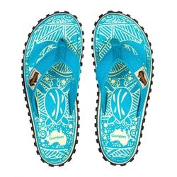 Japonki damskie gumbies islander canvas - niebieski