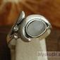 Auckland - srebrny pierścionek z kocim okiem