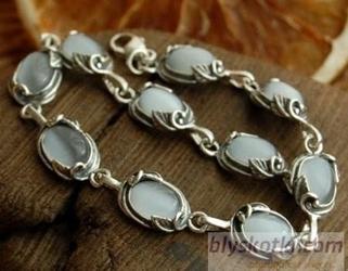 Juna - srebrna bransoletka z kocim okiem