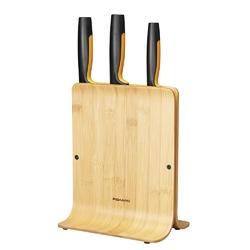 Zestaw noży kuchennych w bambusowym bloku fiskars functional form 3 noże kuchenne 1057553