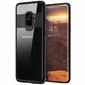 Etui Alogy Galaxy S9 przezroczyste z czarną ramką + Szkło - Czarny