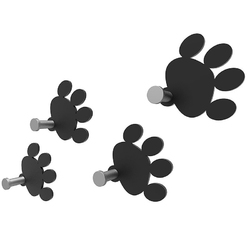Wieszaki ścienne cat footprint calleadesign aluminium 53-13-2-2