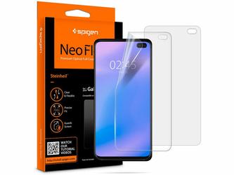2x Folia Spigen Neo Flex HD Samsung Galaxy S10 Plus Case Friendly