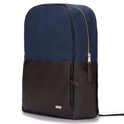 Męski plecak miejski na laptopa solier sr01 forres granatowo-brązowy - granatowy