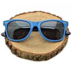 Przeciwsłoneczne okulary nerdy niebiesko-czarne nr-72