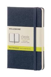 Notes Moleskine kieszonkowy gładki szafirowy