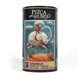 Pizca del mundo | zambezi czekolada do picia o smaku karmelowym 250g | organic - fairtrade