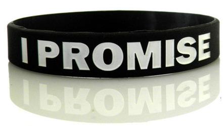 Opaska silikonowa I PROMISE - Czarno biała