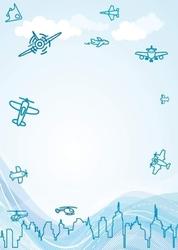 Tablica magnetyczna suchoscieralna dla dzieci samoloty 129