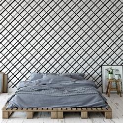 Tapeta na ścianę - checkered minimalism , rodzaj - tapeta flizelinowa laminowana