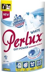Perlux, perły piorące, white, kapsułki do prania tkanin białych i jasnych, 10 sztuk