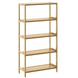 Regał półka z bambusa 5 półek na książki buty